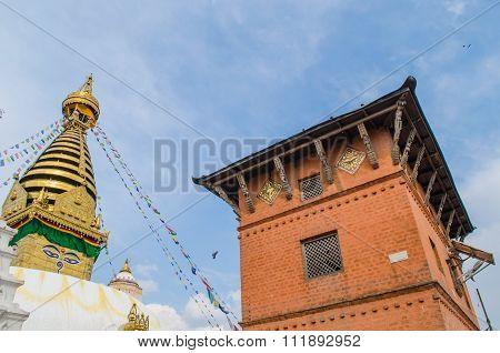 Stupa In The  Nepal