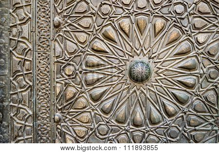 Ornaments Of The Bronze-plate Door Of An Old Mosque, Old Cairo