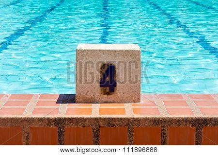 Swimming Pool Lane Number 4