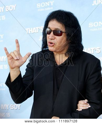 Gene Simmons at the Los Angeles premiere of