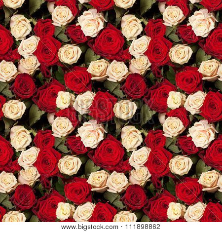 seamless roses background pattern tile