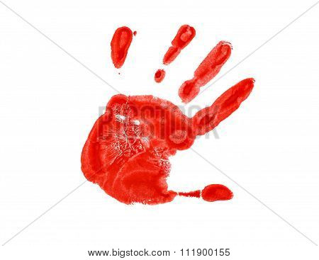 The Red Imprint Of The Left Hand