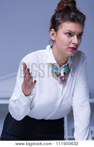 Strict Angry Businesswoman