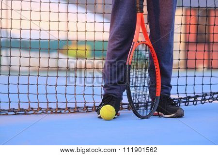 The image of a tennis-player
