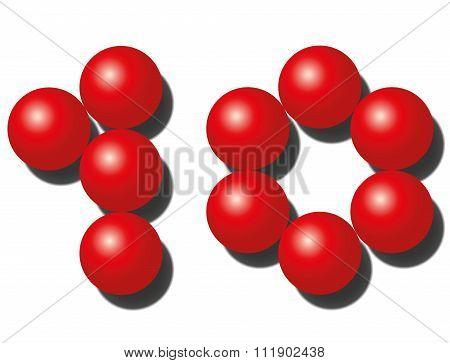 Ten Red Balls