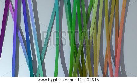 Ribbon Paper Rainbow Gradient