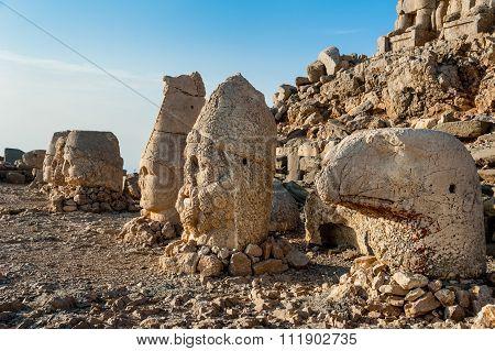 Heads on East Terrace of Mount Nemrut.