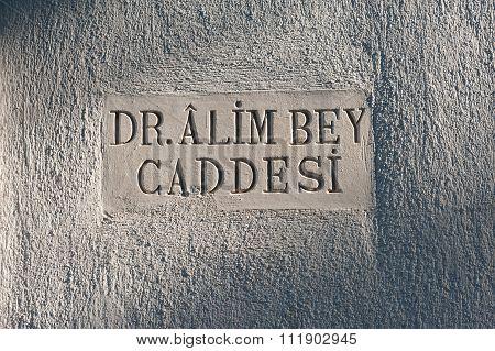 Carved Street Sign