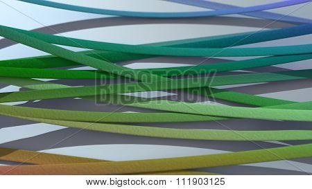 Ribbon Background Gradient Rainbow