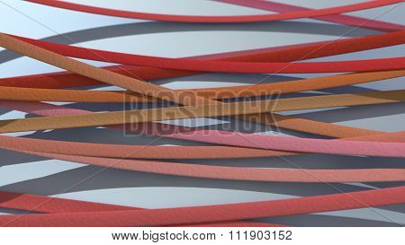 Ribbon Background Red