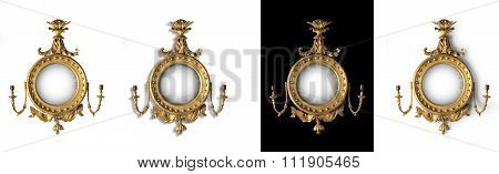 Mirror Antique Round Hall Mirror