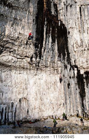 Malham Cove, Climbers