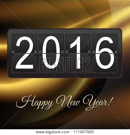 New Years Card With Black Counter