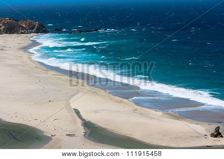 Sand beach along Big Sur, California
