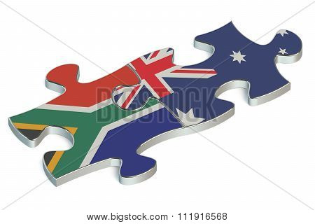 Australia And South Africa Puzzles From Flags
