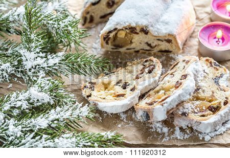 Stollen With Snowy Fir Branch