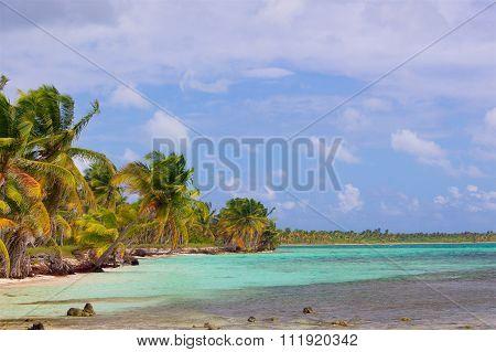 Dramatical Caribbean beach