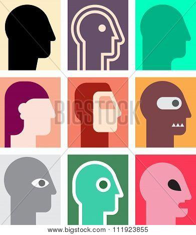 Various People Portrait Set