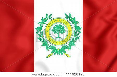 Flag Of Raleigh (north Carolina), Usa.