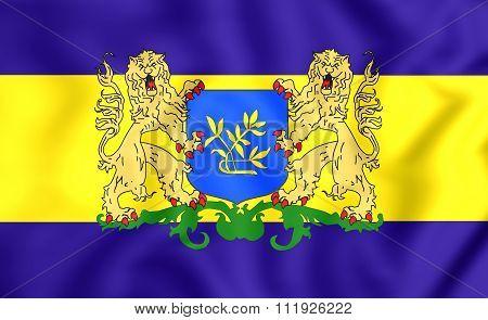 Flag Of Rijswijk (south Holland), Netherlands.