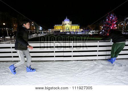 Skating Rink In Zagreb