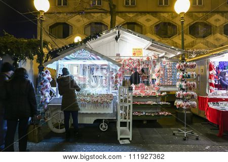 Souvenir Stand At Advent Time