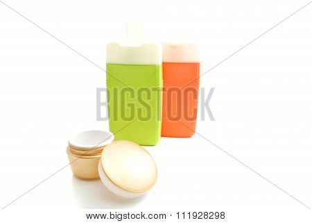 Jar Of Cream And Other Toiletry
