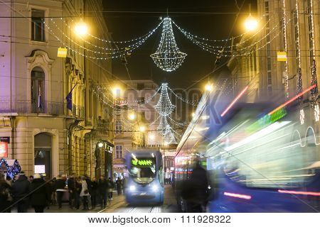 Advent Time In Center Of Zagreb