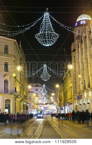Advent Time In Zagreb City