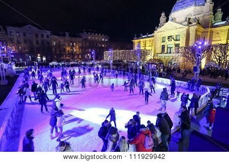 Ice Park In Zagreb