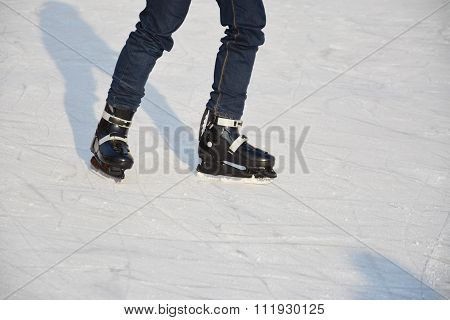 Young Male Ice Skating