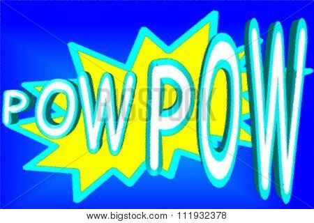 Cartoon pow pow