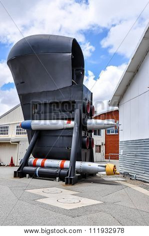 Submarine Bow with Two Torpedoes