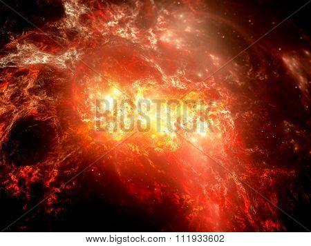Fiery Explosion In Space