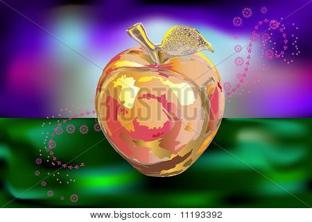 Stone apple vector illustration