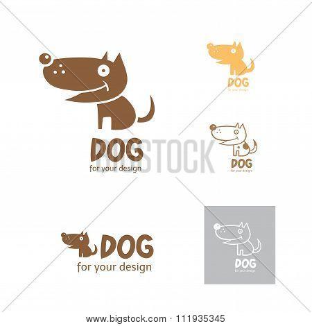 Cartoon Dog Logo.