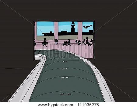 Baggage Claim Portal In Airport