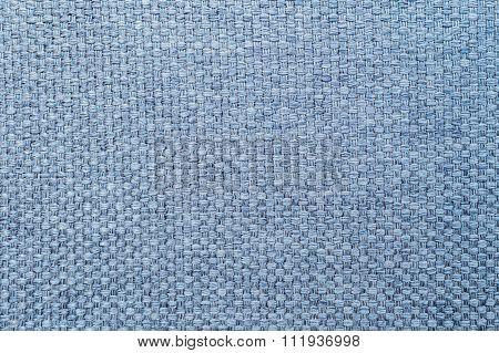 Closeup Blue Fabric At Sofa Texture Background