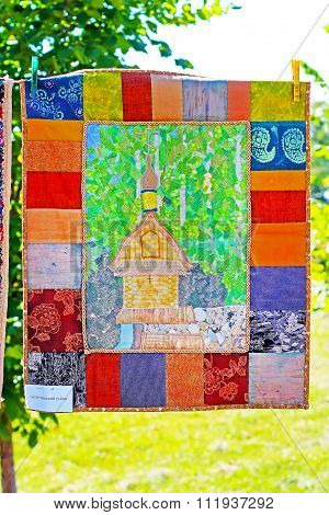 Patchwork images of Russian Orthodox churches