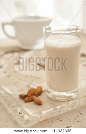 fresh creamy almond milk