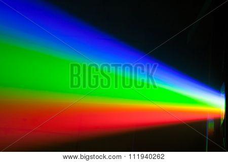 rgb spectrum light of projector