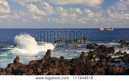 Easter Island - Sea View From The Waterfront
