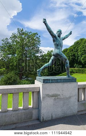Statue In Frogner Park, Oslo, Norway