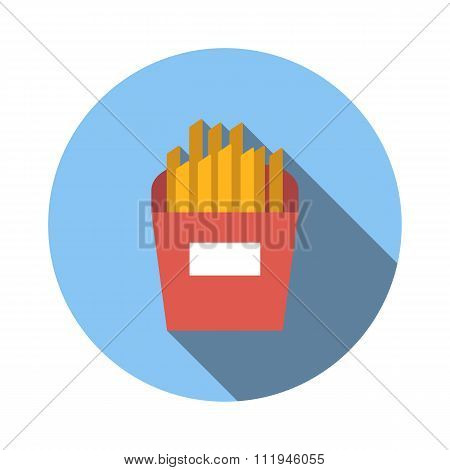 French fries flat icon