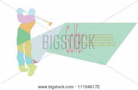 Vector - Illustration - golf sport poster