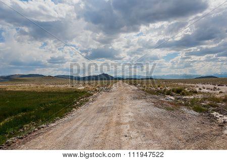 Steppe Mountain Sky