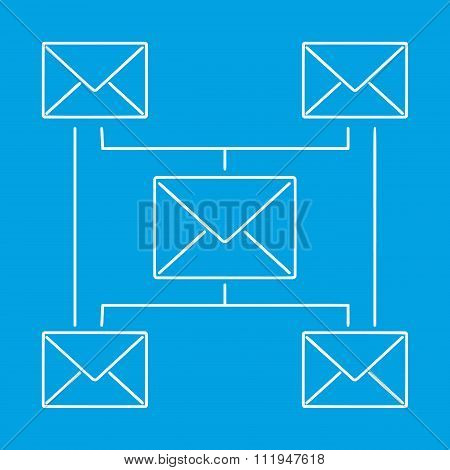 Globe email newsletter pictogram