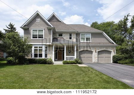 Home in suburbs with double garage