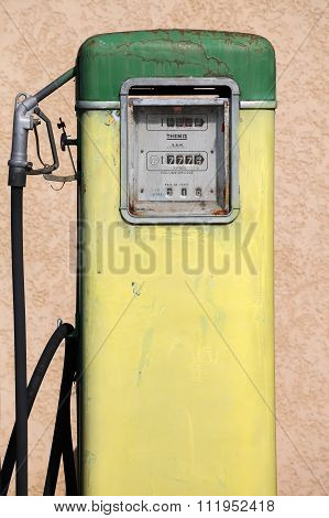 Old and vintage gas pump in France