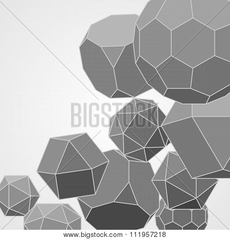 Abstract Background With Geometric Shapes. Scientific And Educational Concept.